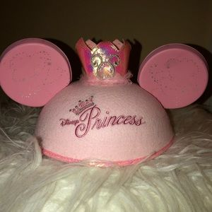 Disney Princess Girl's Pink Minnie Mickey Ears Hat